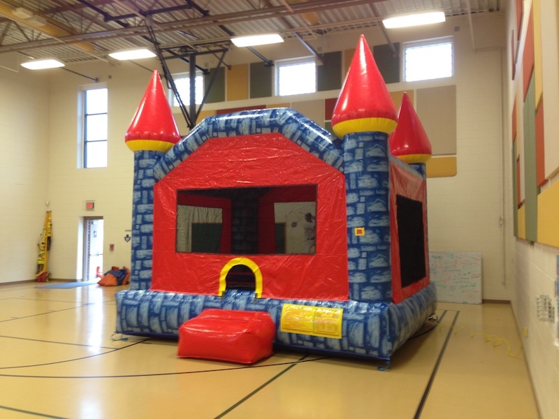 Blue Camelot Castle bounce house