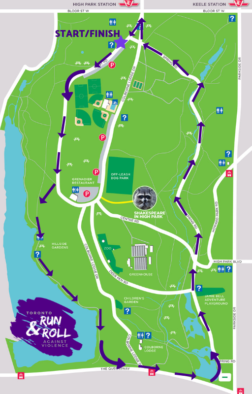 toronto run & roll against violence route