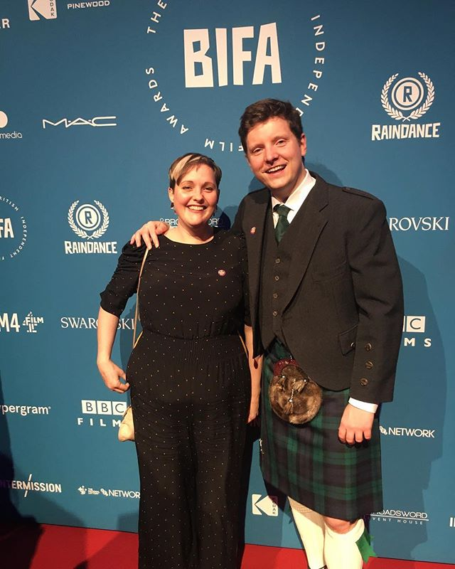 What a starry night at the @bifa_film awards ⭐️ and a great way to cap off the first leg of #supernovember tour 🍾 . . . #supportindiefilm #nobudgetfilmmaking #bifas #kilt #scottishfilm