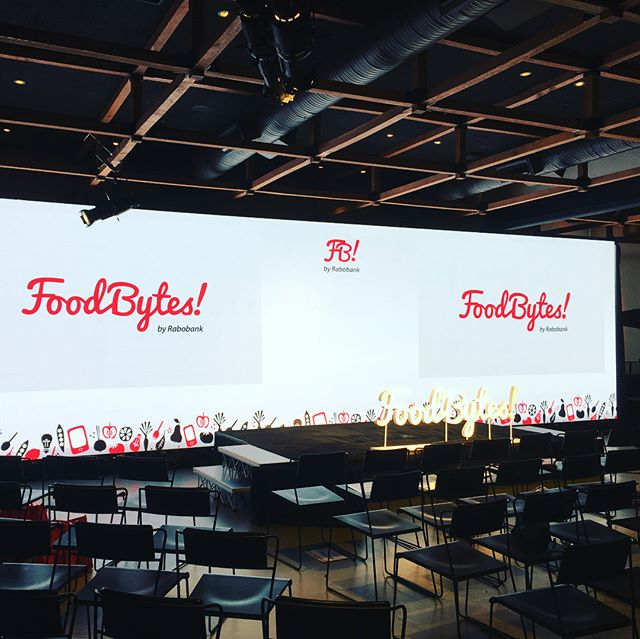 Rockin some LED wall action for Food Bytes!