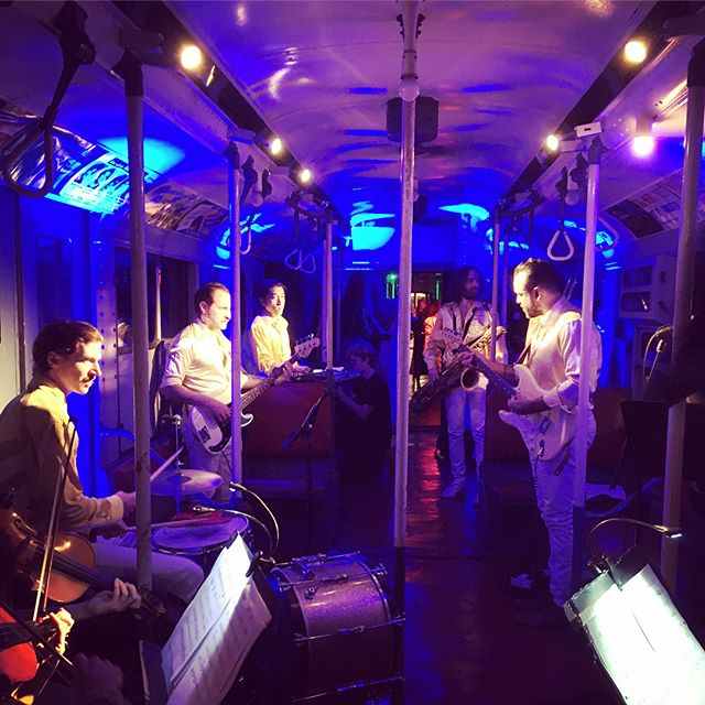 All aboard the party train! What a fun event for Astral Obscura! on some subway cars from the 1930's. Load out wasn't as much fun! Steps!😭