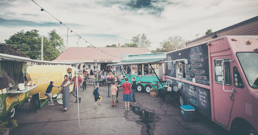 The Little Fleet - Fixed collection of food trucks offering an eclectic array of bites, plus a bar & outdoor seating.(231) 943-1116