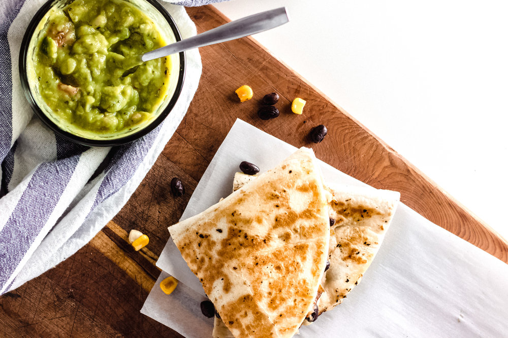 Black Bean & Corn Quesadillas   These can be made with a quick trip to the grocery store after work; no meal plan required!