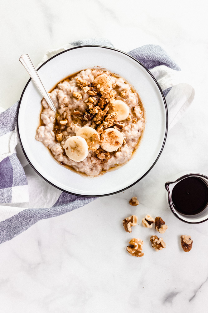 Cinnamon Oatmeal with Salted Maple Butter