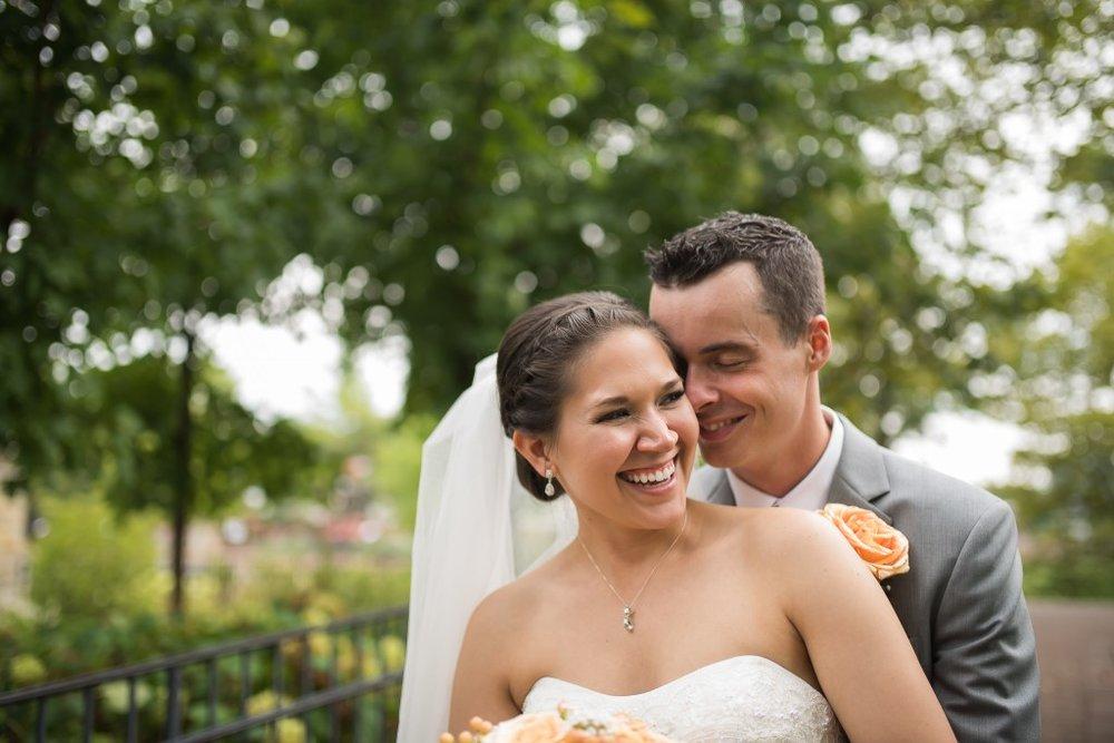 Naperville Riverwalk Bride and Groom, Ashley Hamm Photography