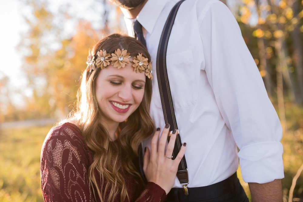 flower crown engagement session