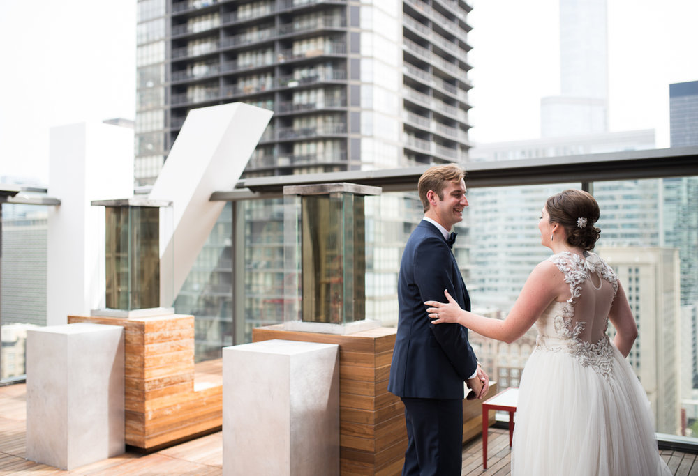 Ignite Studios Wedding, Ignite Studios Wedding Photographer, Chicago Wedding Photographer, Ashley Hamm Photography, Rooftop First Look, Romantic First Look, Chicago First Look (2 of 2).jpg
