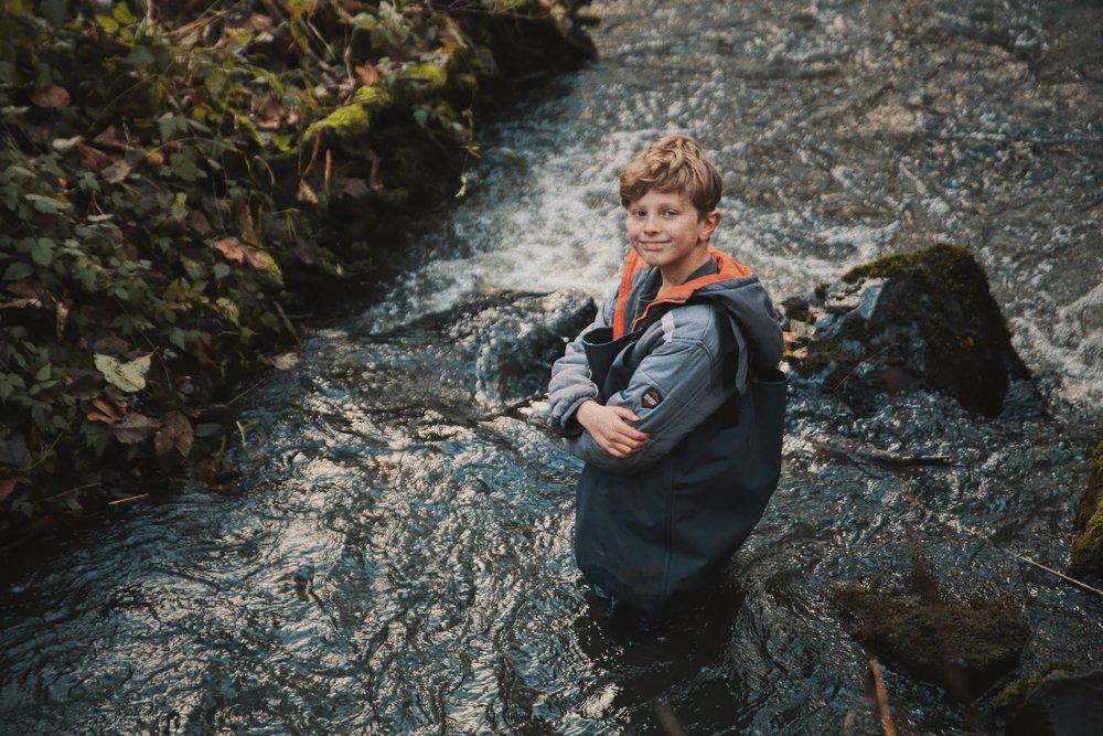Bryson in the creek