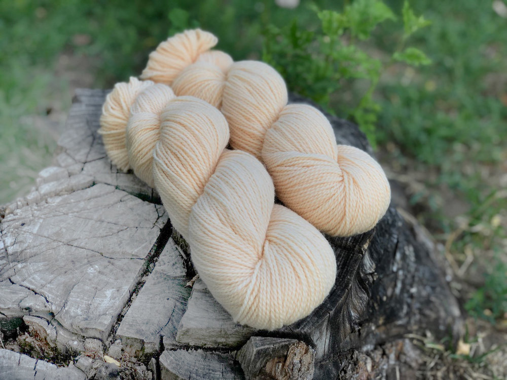 OYSTERS AND PURLSMadder - BFL Merino Fingering. This delicate shade is botanically dyed. All Oyster and Purl yarn is grown, spun and dyed in the US to the highest environmental standards. And did we mention GORGEOUS!350 yds. Non-superwash$30.00