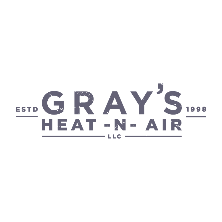 FINAL LOGO - GRAY'S HEAT-N-AIR is a company who prides themselves in quality, reliable, honest work. The client wanted something bold and sturdy to represent their brand and heritage.