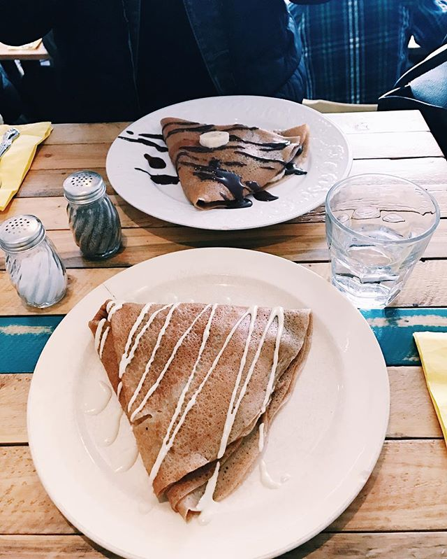Little choc apothecary in Brooklyn is probably one of my favorites. They make insane savory and sweet crepes that are to die for. I keep telling myself when I go I will try something new, but honestly I just cannot resist the glory that is the burrito crepe. If you are in the area definitely hit up @little_choc