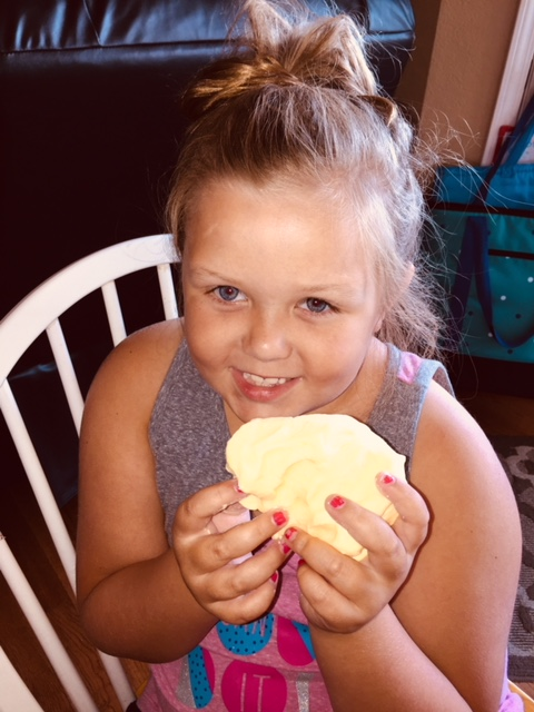 One happy girl! keeping the kids entertained during the hot summer months can be hard. Simple projects like this make all of the difference.