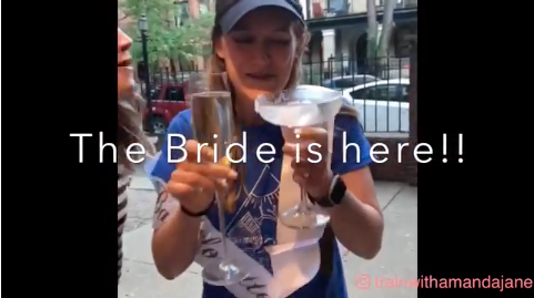 When you're the Bride you always should be double fisting...