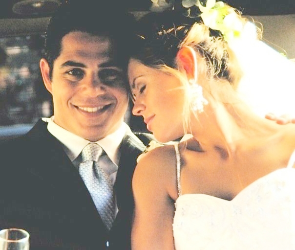 Sevak and Tyaga on their wedding day in June 2005 in Los Angeles.