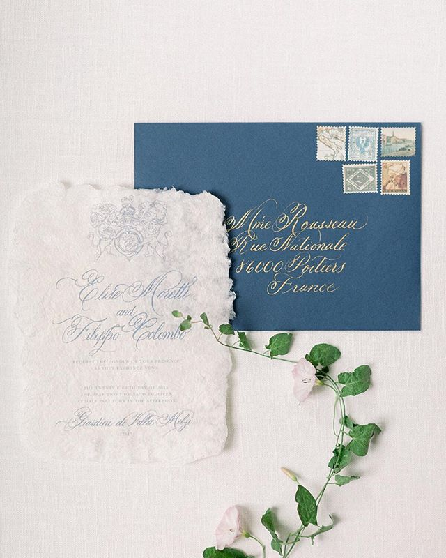 Can we have handmade paper and custom villa renderings for every invitation please? Thanks. ⠀⠀⠀⠀⠀⠀⠀⠀⠀ Photography: @kenzievictory  Invitation suite: @kelseymaliecalligraphy  Handmade paper: @every.little.something . . . #destinationitalianwedding #destinationwedding #destinationweddinginvitations #destinationweddingplanner #italywedding #lakecomowedding