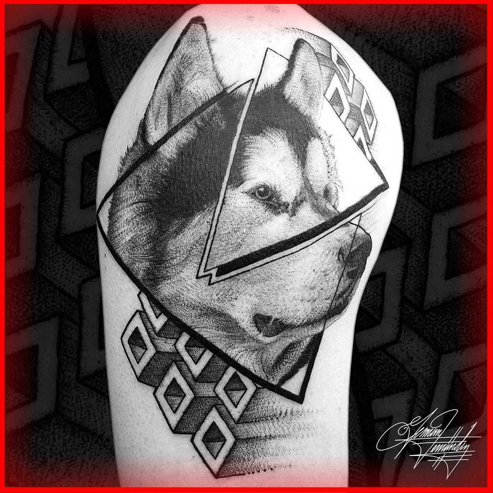 Wolf Geometric Tattoo Sacred Geometry