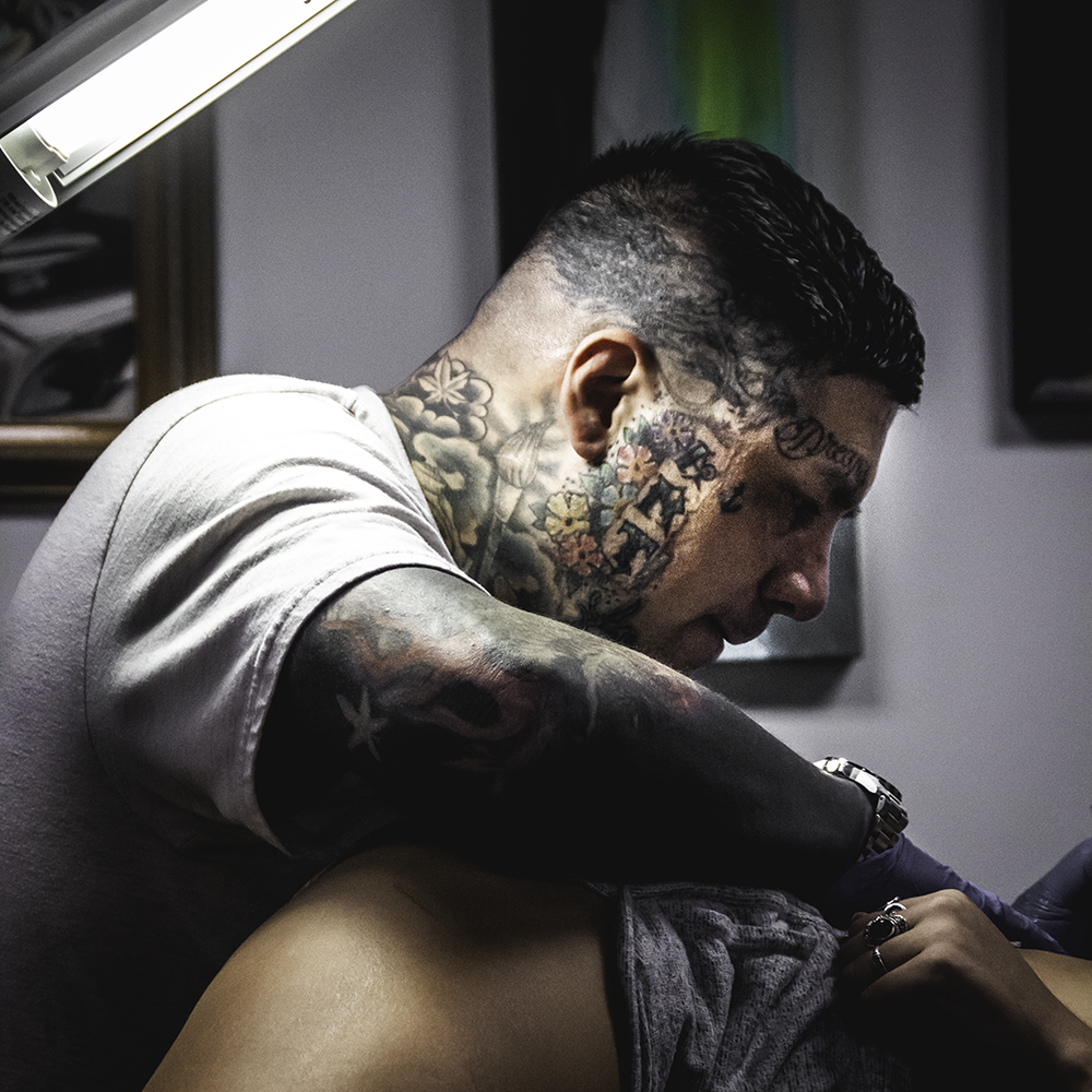 MICHAEL MYERS - Specializes in Colorful Illustrative Tattoos.-Headquarters