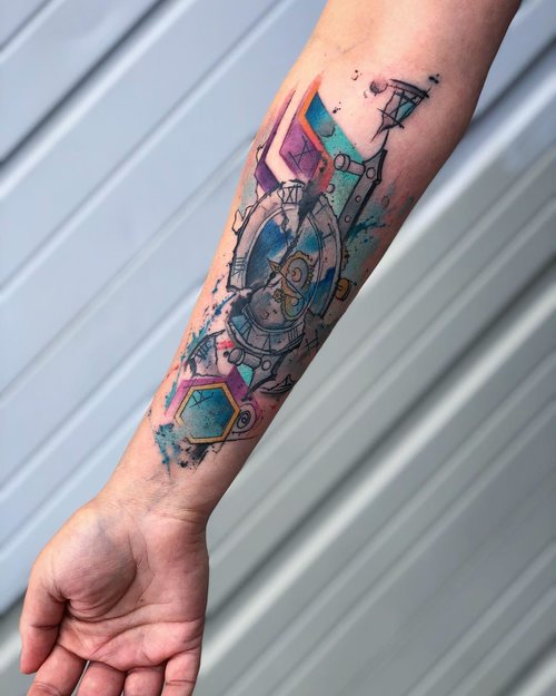 Water Color Tattoo  by Yeyo Mondragon  @ Certified Tatto Denver Colorado.jpg