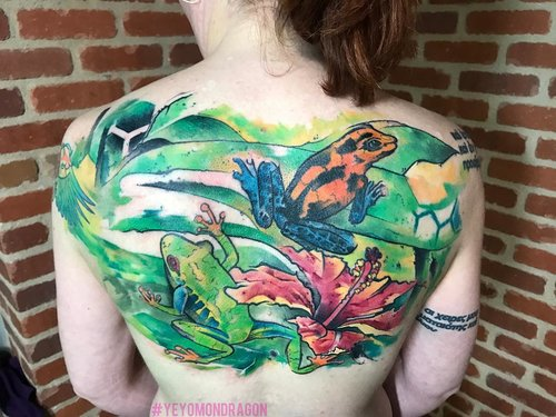 yeyomondragontattoos Water Color Tattoo   @ Certified Tatto Denver Colorado.jpg