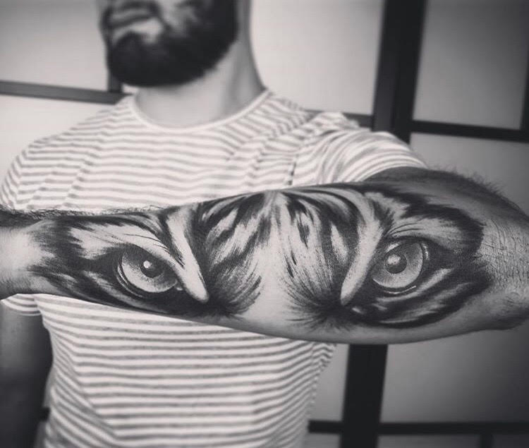 Black and Gray Tiger Tattoo done by Ash Shafer  at Certified Tattoo Studios.jpg