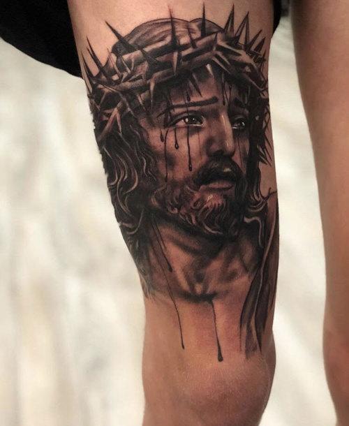 Black and Gray Jesus by Cobra at Cerified Tattoo Studios.jpg