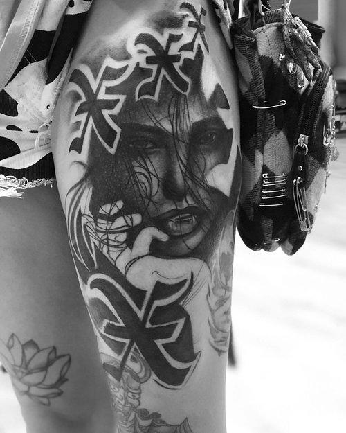 Black and Gray Portrait Tattoo by Cobra at Cerified Tattoo Studios 1.jpg