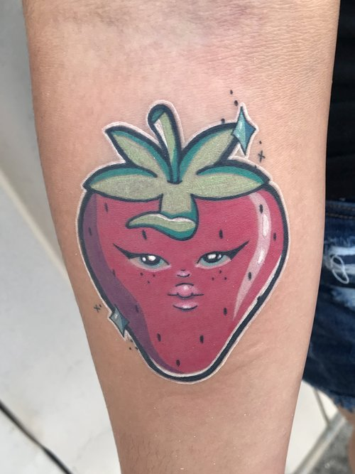 Color Strawberry Tattoo by Hannah  at Certified Tattoo Studios.jpg