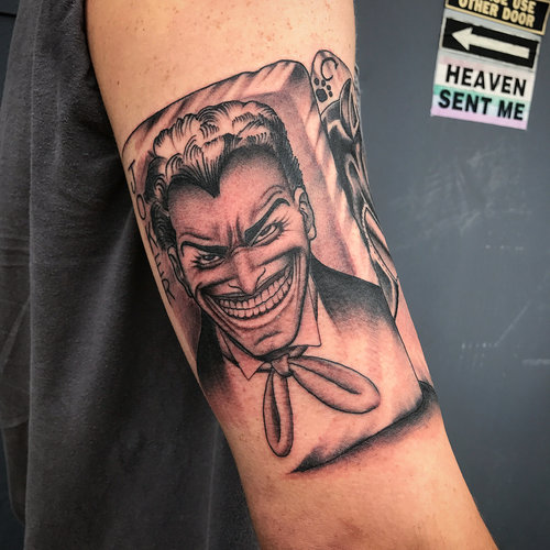 Black and Gray Joker Tattoo by Darious at Certified Tattoo Studios.jpg
