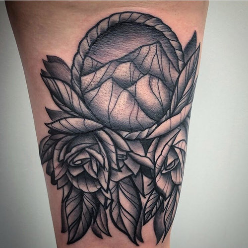 Black and Gray Mountain Tattoo by Darious at Certified Tattoo Studios.jpg