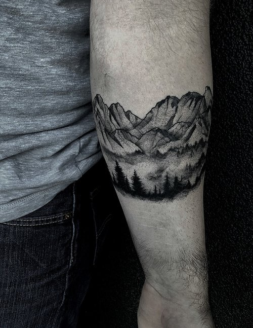 Black and Gray Mountain Tattoo by Gabe  at Certified Tattoo Studios Denver Co 2.jpg