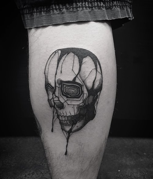 Black and Gray Skull Tattoo by Gabe  at Certified Tattoo Studios Denver Co.jpg