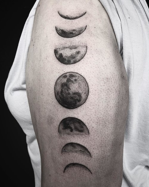 Moon Phases Tattoo by Gabe  at Certified Tattoo Studios Denver Co.jpg