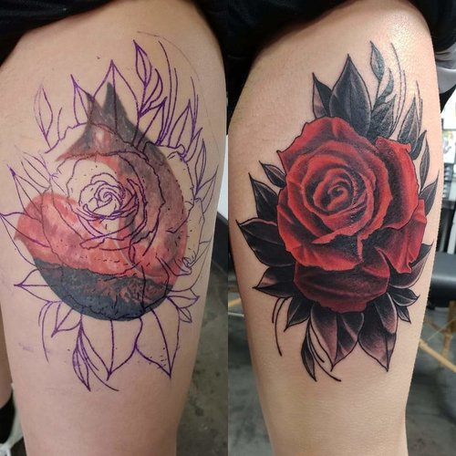 Color Rose Tattoo by Piper  at Certified Tattoo Studios Denver Co 2.jpg