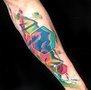Geometric Water Color Tattoo by Skyler Espinoza at Certified Tattoo Studios in Denver Co.jpg