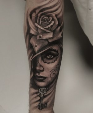 Black and Gray Custom Tattoo by Bryan Alfaro at Certified Tatto Studios in Denver Co.jpg