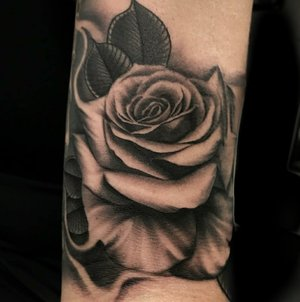 Black and Gray Rose Tattoo by Sal Diaz at Certified Tattoo Studios in Denver Co 11.jpg