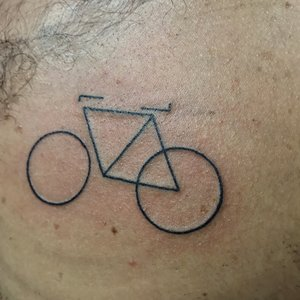 Custom Geometric Bicycle tattoo by Shane Rogers at Certified Customs Denver Co.jpg