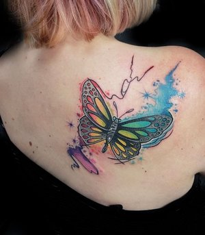 50164066e Color+Butterfly+Tattoo+by+Michael+Myers+at+Cerified+
