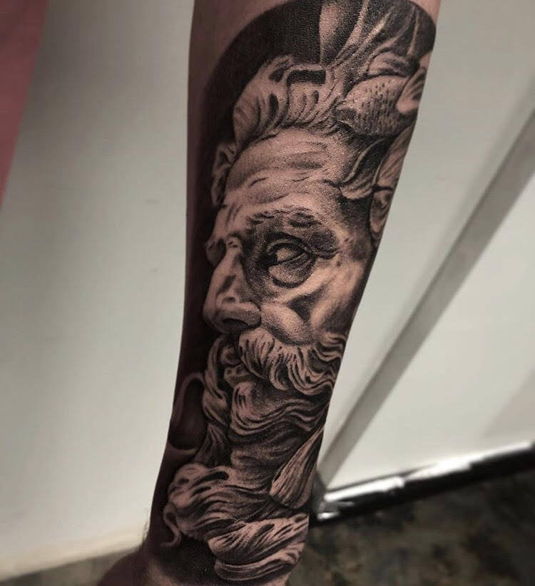Custom Black and Gray Realism Zeus Tattoo by Ramon at Certified Tattoo Studios Denver Co.jpg