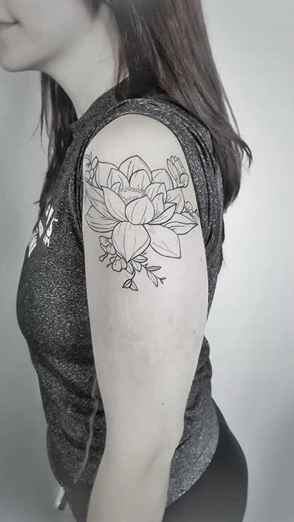 Custom Black and Gray Lilly Tattoo by Dani at Certified Tattoo Studios Denver Co.jpg
