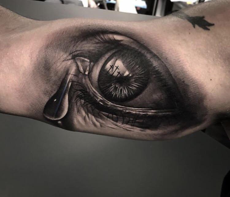 Custom Black and Grey Eye of God Tattoo by Bryan at Certified Tattoo studios.jpg