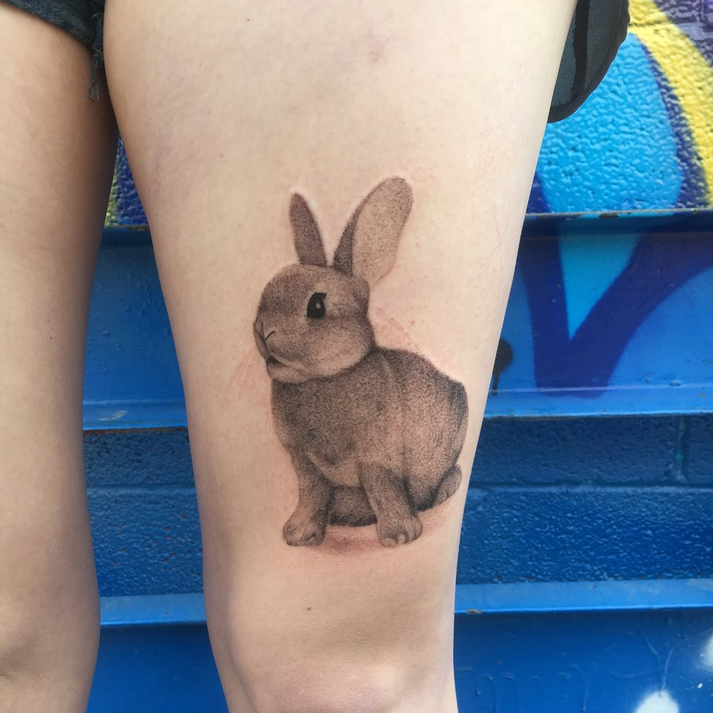 Custom Black Work Bunny Tattoo by  BJ at Certified Tattoo Studios Denver Co  (4).JPG