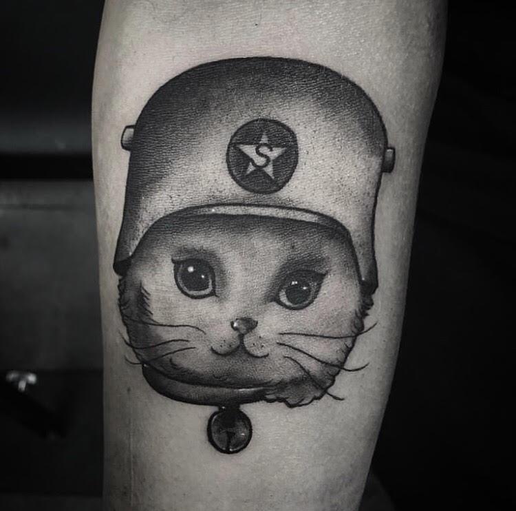 Custom Black and Grey Pet Cat Tattoo by Gabe Mondragon at Certified Tattoo Studios Denver Co.jpg