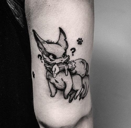 Black and Gray Kurama Tattoo by Gabe  at Certified Tattoo Studios Denver Co.jpg