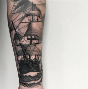 Custom Black and Grey Sailing Ship Tattoo by Salvador Diaz at Certified Tattoo Studios in Denver Co (34).jpg