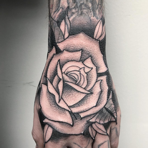 Custom Black and Grey Rose Neo Traditional Style Tattoo by Alec at Certified Tattoo Studios Denver CO  (1).png