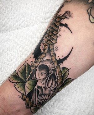 Custom Skul and Noose Neo Traditional Style Tattoo by Alec at Certified Tattoo Studios Denver CO  (30).jpg