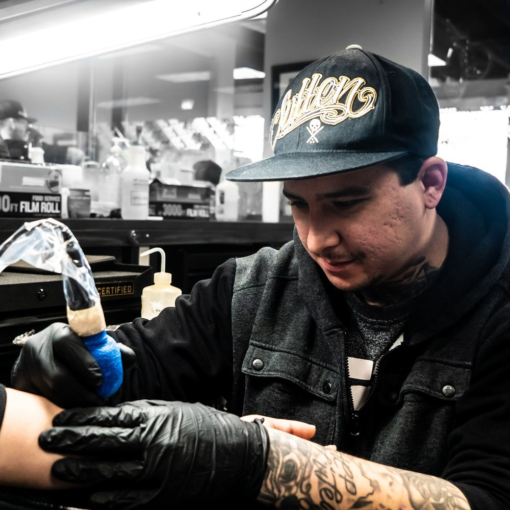 RUBEN TRUJILLO - Specializes in Black and Grey and Black Work Tattoos-Headquarters