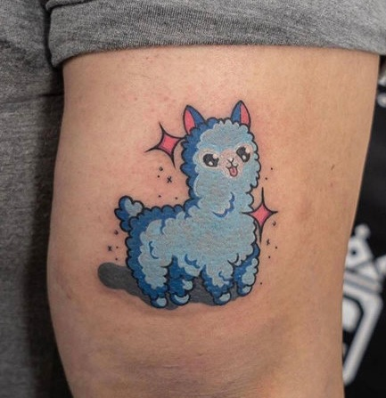 Color Llama Tattoo by Hannah  at Certified Tattoo Studios.jpg