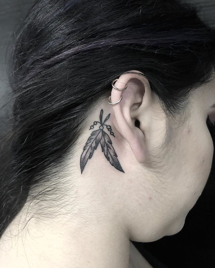 Custom Feathers Tattoo By Spencer Reisbeck at Certified Tattoo Studios Denver Co.JPG